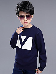 Boy Casual/Daily Striped Sweater & Cardigan,Cotton Blend Winter / Spring / Fall Long Sleeve Regular