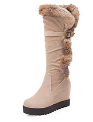 Women's Boots Fall / Winter Platform Fur / Fleece Party & Evening / Dress / Casual Platform Buckle / Fur Black / Beige Others