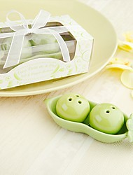 Recipient Gifts - 2pcs/box - Ceramic Peas in a Pod Salt and Pepper Shakers Wedding Favors