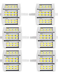 10W R7S LED прожекторы Трубка 24 SMD 5730 880 lm Тёплый белый / Холодный белый Декоративная V 6 шт.