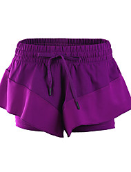 Yoga Pants Baggy shorts / Bottoms Breathable / Lightweight Materials / Comfortable Natural Inelastic Sports Wear Purple Women's Sports