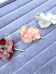 Women's Pearl Alloy Chiffon Headpiece-Wedding Special Occasion Hair Combs Flowers Hair Pin 1 Piece