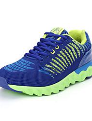 Masculino-Tênis-Conforto-Rasteiro-Preto Azul Cinza Coral Verde Claro-Couro Ecológico-Casual