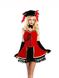 Queen Fairytale Festival/Holiday Halloween Costumes Red Black Solid Skirt Gloves HatsHalloween Christmas Carnival Children's Day New Year