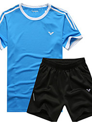 Running Clothing Sets/Suits Unisex Short Sleeve Breathable / Quick Dry / Sweat-wicking Leisure Sports / Running Sports Sports Wear