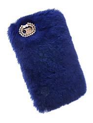 For Apple iPhone 7 Plus 7 6S 6 Plus 100% Genuine Rabbit Fur Hair Case Glitter Diamond Cover