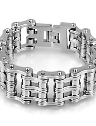 Kalen High Quality Bike Chain Bracelets High Polished 316 Stainless Steel Double Layer Bicycle Link Chain Bracelets Heavy Chunky Handchain For Men