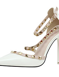 Women's Heels Spring / Summer / Fall T-Strap / Ankle Strap Party & Evening / Dress / Casual Stiletto Heel Rivet / Hollow-out