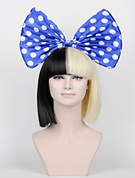 Blue and White dot Bow sia wig big bow accessories(No wigs included)