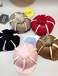 Deer fur bonnet baseball cap Equestrian cap Soft hat Thickening warm winter hats Breathable / Comfortable