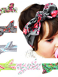 Baby Headband Flower Headband Top Knot Headband Polka Dot Cross Knot Baby Turban Tie Knot Headwrap Hair Accessories 6pcs