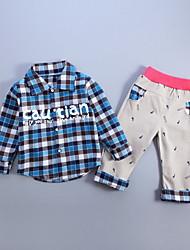 Boy Sports / School Striped Sets,Cotton Fall Long Sleeve Clothing Set