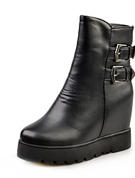Women's Boots Winter Increased Within Abrasionproof Thick Warm Comfort PU Dress / Casual Platform