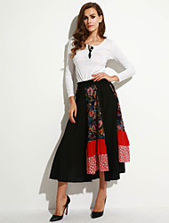 Women's Novel Casual Floral Maxi Skirt
