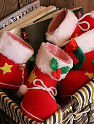 2pcs noël bottes décorations de bonbons 9 * 6 * 10cm