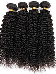 4 Pieces 400g Kinky Curly natural look Human Hair Weaves Brazilian Texture Unprocessed Real Remy Human Hair Extensions Tangle-Free Hair Bundles