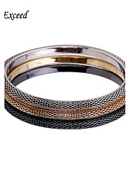 3pcs/Set Brand Vintage Trendy Wide Colorful Metal Chain Bangle Bracelets For Christmas Gift BL140139