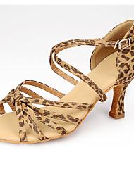 Sapatos de Dança(Leopardo / Outro) -Feminino-Não Personalizável-Latina / Moderna
