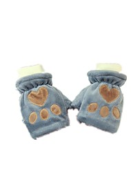 (Note - gris) style chaud empreintes dame ours en peluche gants chauds