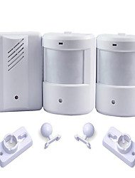 Exterior Courtesy Door Bell Alarm Chime Doorbell Wireless Infrared Monitor Sensor Sensitive Detector Welcome Entry Music Bell 2 Transmitters 1 Receive