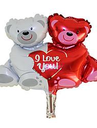 Balões Decoração Para Festas Animal alumínio Vermelho / Branco Para Meninos / Para Meninas 5 a 7 Anos