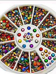 1 Box Hot Style Manicure Dazzle Colour Mixed Color Wheel 2 Mm 3 Mm Nail Art Act The Role Ofing Is Tasted