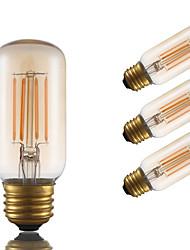 3.5 E26 Ampoules à Filament LED T 4 COB 300 lm Ambre Gradable / Décorative AC 110-130 V 4 pièces