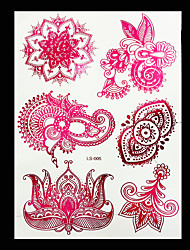 2 Tattoo Stickers Jewelry Series / Flower Series / Totem Series / Others / Romantic SeriesNon Toxic / Pattern / Hawaiian / Lower Back /