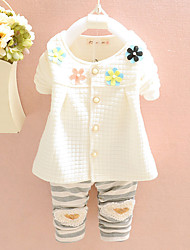 Girl Casual/Daily / Sports Solid Sets,Cotton Winter / Fall Half Sleeve Clothing Set