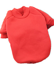 Dog Sweatshirt Red Dog Clothes Winter / Spring/Fall Solid Casual/Daily / Keep Warm