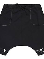 Trenduality® Hommes Shorts Pantalon Noir-55012