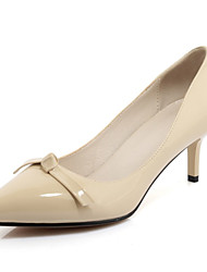 Women's Heels Spring Fall Leatherette Office & Career Casual Dress Stiletto Heel Black Red Almond