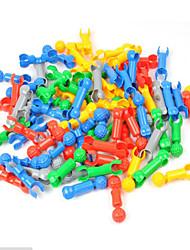Kit Faça Você Mesmo / Blocos de Construir / Brinquedo Educativo para presente Blocos de Construir Jogos & Quebra-Cabeças Forma Cilindrica