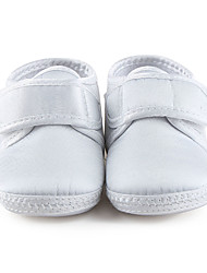 Girl's Baby Flats Spring Summer Fall First Walkers Crib Shoes Stretch Satin Wedding Dress Casual Party & Evening Ivory