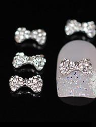 10pcs bonito bowtie diy brilho arte acessórios de liga de strass decoração de unhas