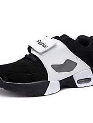 Big Size Women's Air Cushion Basketball Shoes Casual High Top Shoes Fashion Lover Shoes Flat Heel Black / Black And White EU36-43