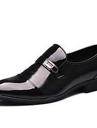 Hombre Zapatos Cuero Primavera Verano Otoño Invierno Botas de Moda Confort Zapatos de taco bajo y Slip-On Remache Para Casual Fiesta y