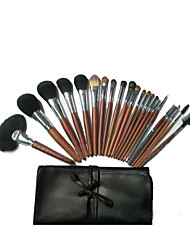 24 Makeup Brushes Set Goat Hair Full Coverage Wood Face Yuanmei &Grace / Gift Package