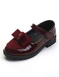 Girl's Flats Spring Fall Comfort Leatherette Casual Black Red Burgundy
