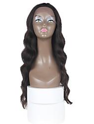 24-Zoll-Körperwellen-Menschenhaarspitze-Front Perücken schwarz # 1 b Körperwelle glueless Spitzefront