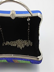 Women Other Leather Type Formal / Event/Party / Wedding - Blue / Gold / Red / Silver Evening Bag