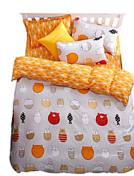 Mingjie Wonderful Orange Cats Bedding Sets 4PCS for Twin Full Queen King Size from China Contian 1 Duvet Cover 1 Flatsheet 2 Pillowcases