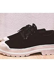 Homme-Décontracté-Noir / Rose / GrisConfort-Sneakers-Daim