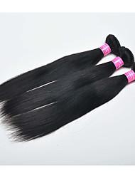 3 Piezas Recto Cabello humano teje Cabello Malayo 0.15kg 8-30 inch Extensiones de cabello humano