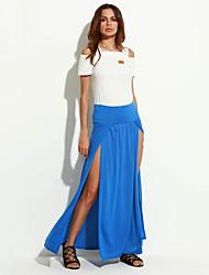 Women's Sexy Beach Casual Party Maxi Split Skirts