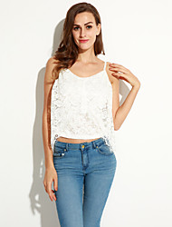 Women's Irregular Layered Floral Lace Club Top