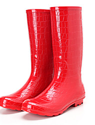 Women's Boots Comfort Rubber Casual Red