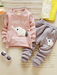 Girl Casual/Daily / Sports Print Sets,Cotton Winter / Fall Long Sleeve Clothing Set