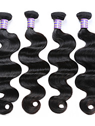 Lidské vlasy Vazby Brazilské vlasy Vlnité 6 měsíců 4 kusy Vazby na vlasy