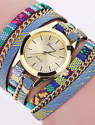 Women's Fashion Watch Wrist watch Bracelet Watch Quartz Punk Colorful Fabric Band Vintage Bohemian Charm Bangle Cool Casual Multi-Colored